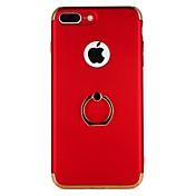 Etui Til Apple iPhone 6 iPhone 6 Plus iPhone 7 Plus iPhone 7 Belegg Ringholder Bakdeksel Spill med Apple-logo Hard PC til iPhone 7 Plus