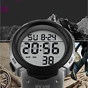 SKMEI Hombre Digital Reloj Deportivo Chino Calendario Resistente al Agua Reloj Casual Noctilucente Cronómetro PU Banda Lujo Casual Moda