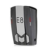 e8 bil radar detektor 360 grader 16 båndhastighet sikkerhet anti-politi skanning avansert talesignal laser led