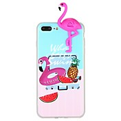 Etui Til Apple iPhone 6 iPhone 7 Mønster GDS Bakdeksel Flamingo 3D-tegneseriefigur Dyr Myk TPU til iPhone X iPhone 8 Plus iPhone 8 iPhone