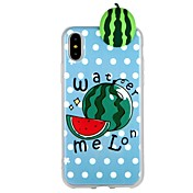 Funda Para Apple iPhone 6 iPhone 7 Diseños Manualidades Funda Trasera Fruta Dibujo 3D Suave TPU para iPhone X iPhone 8 Plus iPhone 8