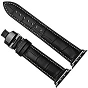 Klokkerem til Apple Watch Series 3 / 2 / 1 Apple Sommerfugle Spenne Ekte lær Håndleddsrem