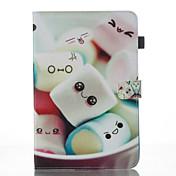 Etui Til Samsung Galaxy Tab A 10.1 (2016) Lommebok med stativ Flipp Mønster Auto Sove/Våkne Heldekkende etui Tegneserie Hard PU Leather