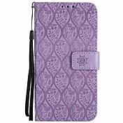 Etui Til Sony Xperia L1 Xperia E5 Kortholder Lommebok Støtsikker med stativ Flipp Heldekkende etui Helfarge Hard PU Leather til Sony