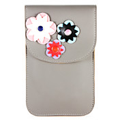 Etui Til Apple iPhone X iPhone 8 Kortholder Lommebok Lomme Blomsternål i krystall Myk PU Leather til iPhone X iPhone 8 Plus iPhone 8