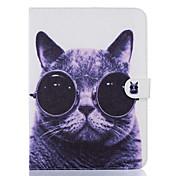 Funda Para Samsung Galaxy Soporte de Coche Cartera con Soporte Diseños Activación al abrir/Reposo al cerrar Funda de Cuerpo Entero Gato