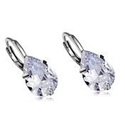 Mujer Gota Cristal Cristal Pendientes colgantes - Formal / Clásico / Moda Plata Aretes Para Fiesta / Noche / Oficina y carrera