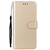 Etui Til Samsung Galaxy Note 8 Kortholder med stativ Flipp Heldekkende etui Helfarge Hard PU Leather til Note 8