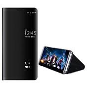 Funda Para Huawei Mate 10 pro Mate 10 lite con Soporte Cromado Espejo Funda de Cuerpo Entero Color sólido Dura ordenador personal para