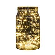 1pc 2m 20 ledet perler batteridrevet ledd streng lys vanntett for bryllupsfesten dekorasjon