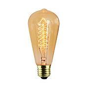 1pc 40 W E26 / E27 ST64 Glødende Vintage Edison lyspære 220-240 V