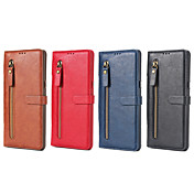 Etui Til Samsung Galaxy Note 8 Kortholder Lommebok med stativ Flipp Heldekkende etui Helfarge Hard PU Leather til Note 8