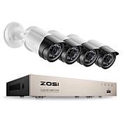zosi® 4ch sikkerhetssystem cctv dvr sikkerhetssystem 4ch 1tb 4 x 1080p sikkerhet kamera 2.0mp kamera diy sett