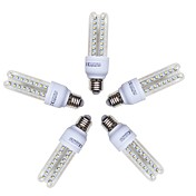 5pcs 9W 720lm E26 / E27 LED-kornpærer T 48 LED perler SMD 2835 Kjølig hvit 220-240V