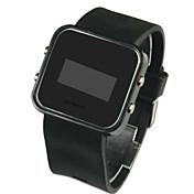 Hombre Digital Reloj de Pulsera Calendario LED Silicona Banda Encanto Negro