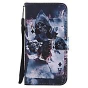 Etui Til Samsung Galaxy J7 (2017) J5 (2017) Kortholder Lommebok med stativ Flipp Magnetisk Heldekkende etui Hodeskaller Hard PU Leather