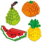 Bloques de Construcción 4pcs Dibujos / Fruta Animales Regalo