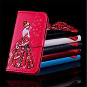 Funda Para Samsung Galaxy S9 Plus / S9 Cartera / Soporte de Coche / Flip Funda de Cuerpo Entero Chica Sexy Dura Cuero de PU para S9 / S9