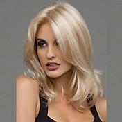 Syntetiske parykker Bølget Syntetisk hår Varme resistent / Midtskill Blond Parykk Dame Medium