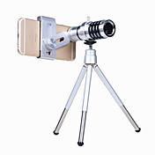 Mobiltelefon Lens Makrolinse / Annet Aluminiumslegering 12X makro 3 m 70 ° Objektiv med stativ