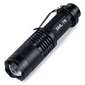 ismartdigi i-98 LED Flashlight LED Lommelygter Bærbar / Anti-Skride Camping / Vandring / Grotte Udforskning / Dagligdags Brug / Jakt Svart