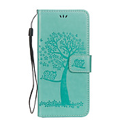 For Case Cover Card Holder Wallet with Stand Flip Embossed Full Body Case Tree Owl Hard PU Leather for Samsung Galaxy S8 Plus S8 S7 edge