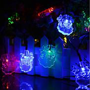 Solar Powered  LED String Light Santa Claus Portrait 0.5W 10LM 2V 6Meters 30LEDS Multi Color/Warm White/White