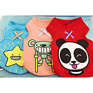 Dog Vest Dog Clothes Casual/Daily Cartoon Blue Green Red Orange