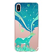 For Case Cover Transparent Pattern Back Cover Case Cartoon Animal Soft TPU for Apple iPhone X iPhone 8 Plus iPhone 8 iPhone 7 Plus iPhone