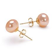 cheap -Women's Gold 1 Drop Earrings - Birthstones Oval Earrings For