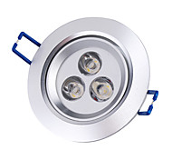 Недорогие -Встроенное освещение Потолочный светильник Утапливаемое крепление 3 Высокомощный LED 250 lm Тёплый белый 3000K К AC 85-265 V