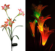 1PCS LED Solar Powered Lamp Lily Flower Light Home Outdoor Garden Yard Landscape