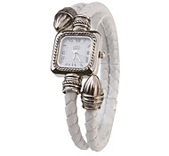 PU Rope Band Quartz Bracelet Watch For Women(White) Cool Watches Unique Watches Strap Watch