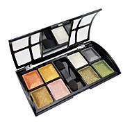 8 Paleta de Sombras de Ojos Brillo Paleta de sombra de ojos Polvo Normal Maquillaje de Fiesta