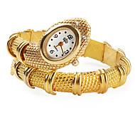 Women's Gold Snake Style Alloy Quartz Analog Bracelet Watch Cool Watches Unique Watches