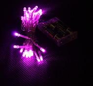 economico -3m 30-led luce rosa 2-mode led fairy fairy lamp per (3xaa)