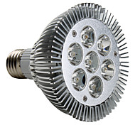 7w e26 / e27 llevó el proyector par30 7 de alta potencia led 600-700lm blanco cálido 3000k ac 220-240v 1pc