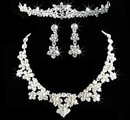 Women's Rhinestone Costume Jewelry Alloy Necklaces Earrings Tiaras For Wedding Party Anniversary Birthday Engagement Gift Wedding Gifts
