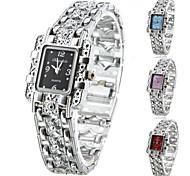 Damen Modeuhr Armband-Uhr Quartz Legierung Band Glanz Elegante Silber