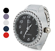cheap -Women's Quartz Ring Watch Japanese Casual Watch Alloy Band Sparkle Fashion Silver