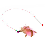 cheap -Teaser Feather Toy Stick Plastic For Cat Cat Toy