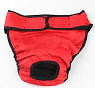 Недорогие -Собака Брюки Одежда для собак Однотонный Черный Красный Хлопок Костюм Для домашних животных Муж. Жен. На каждый день