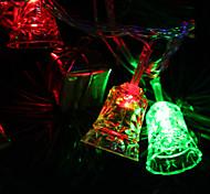 7M 30-светодиодный Tinkle-Bell-Shaped Красочный светодиодные Газа Fairy лампы для фестиваля украшения (220)