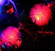 7M 30-светодиодный Snowball-Shaped Красочный светодиодные Газа Fairy лампы для фестиваля украшения (220)