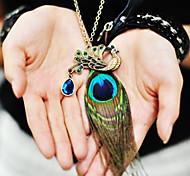 Старинное ожерелье с павлиньим пером