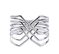 Fashion Silver Plated Glaze Geometric Shape Alloy Cuff Bracelet