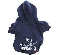 cheap -Dog Hoodie Dog Clothes Letter & Number Blue Cotton Costume For Pets Men's Women's Fashion