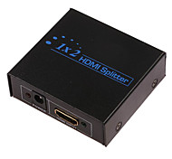 1080 2-Port Splitter v1.3 HDMI с адаптером переменного тока (1-в, 2-аут)