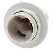 E14 del sostenedor de bulbo del zócalo de lámpara (Blanco)