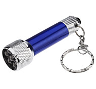 cheap -Key Chain Flashlights LED 50 lm 1 Mode - with Batteries Compact Size Small Size Super Light Everyday Use